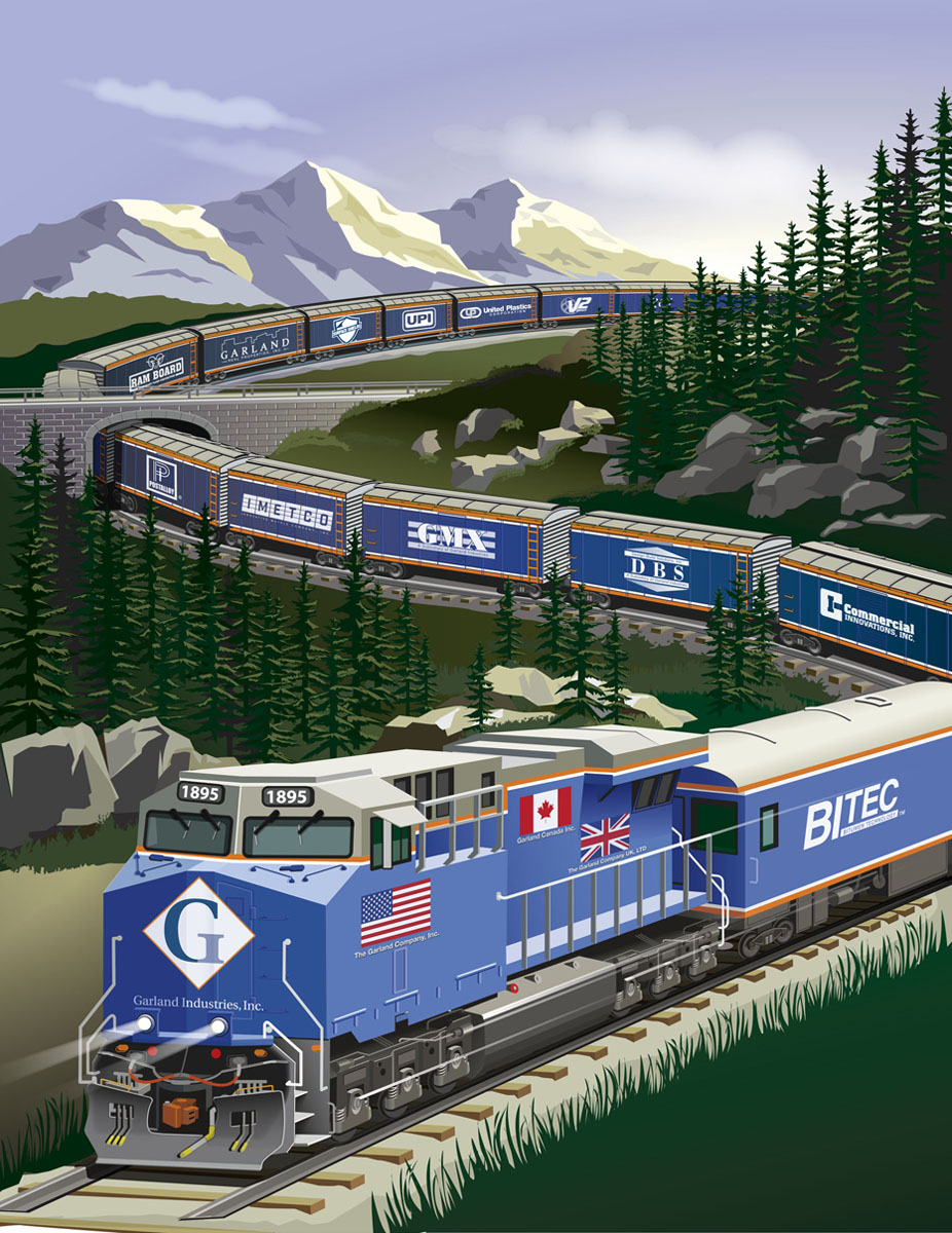 Garland Train magazine  cover