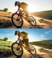 BikeBrite concept retouching