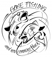 Gone Fishing t-shirt art