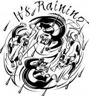 It's Raining t-shirt art