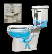 Toilet bowel cutaway
